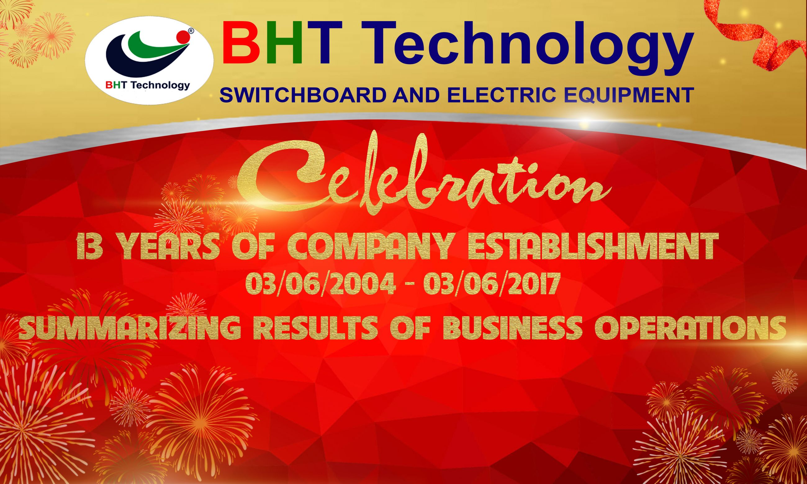 CELEBRATION 13 YEARS OF COMPANY ESTABLISHMENT